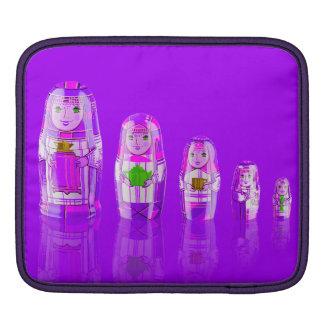 Purple Matryoshka Russian Dolls iPad Pad iPad Sleeve