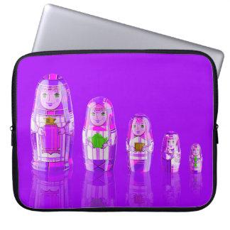Purple Matryoshka Russian Dolls Laptop Sleeve