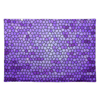 Purple mauve color stained glass pattern cloth placemat