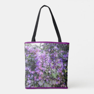 Purple / Mauve Hedge Flowers Tote Bag type 2