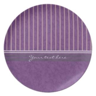 Purple Mauve Lavender Patchwork Stripes