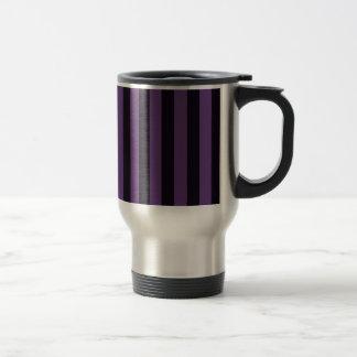 Purple Mauve Stripes Graphic Travel Mug