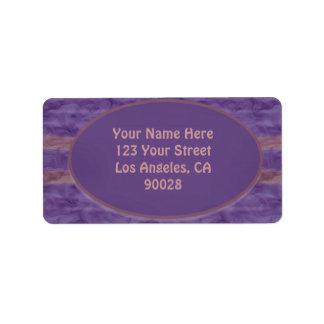 purple mauve texture label