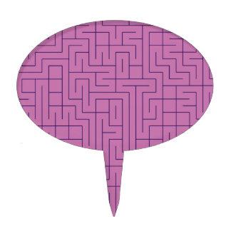 Purple Maze Cake Topper