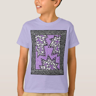 Purple Maze In The Middle T-Shirt