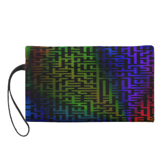Purple Maze Wristlet Purse