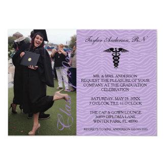 Purple Medical RN School Graduation Announcement