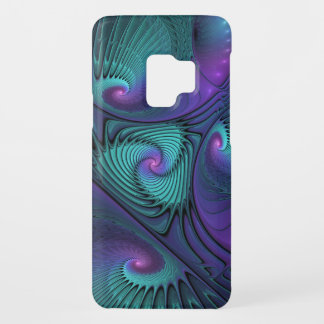 Purple meets Turquoise modern abstract Fractal Art Case-Mate Samsung Galaxy S9 Case