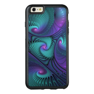 Purple meets Turquoise modern abstract Fractal Art OtterBox iPhone 6/6s Plus Case