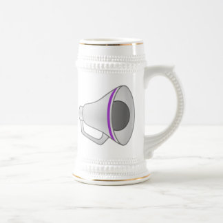 Purple Megaphone Beer Stein