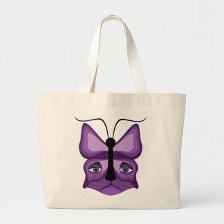 Purple Meow Mask Large Tote Bag