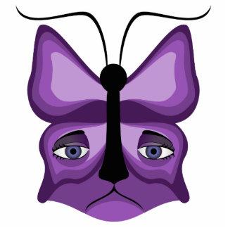 Purple Meow Mask Photo Sculpture Ornament