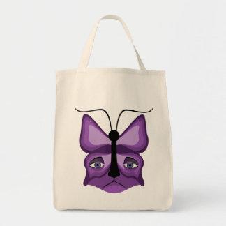 Purple Meow Mask Tote Bag