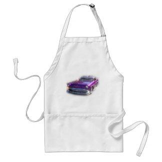 Purple Mercury Hot Rod Car Show Vintage Adult Apron