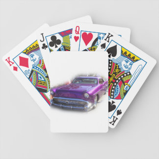 Purple Mercury Hot Rod Car Show Vintage Bicycle Playing Cards
