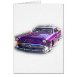 Purple Mercury Hot Rod Car Show Vintage Card