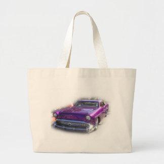 Purple Mercury Hot Rod Car Show Vintage Large Tote Bag