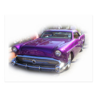 Purple Mercury Hot Rod Car Show Vintage Postcard