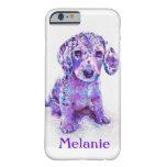 purple merle dachshund iphone 6 case