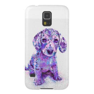 purple merle dachshund puppy phone case