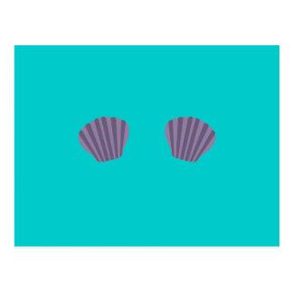 Purple Mermaid Bikini Postcard