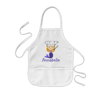 Purple Mermaid Chef Personalize Kids' Apron