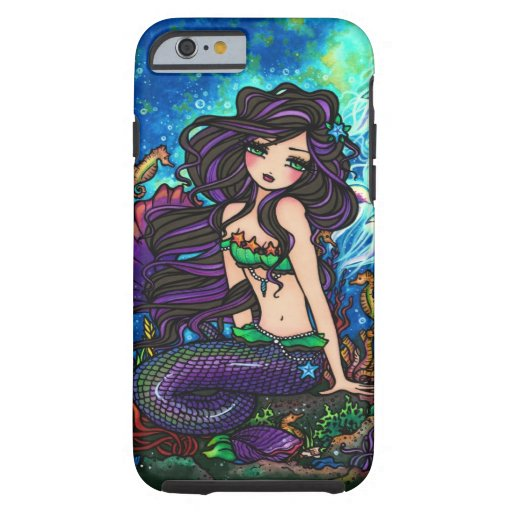 Purple Mermaid Jellyfish Fantasy Fairy Art iPhone iPhone 6 Case