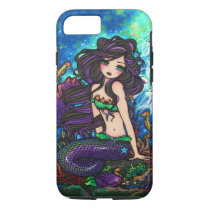 Purple Mermaid Jellyfish Fantasy Fairy Art iPhone iPhone 8/7 Case