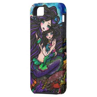 Purple Mermaid Mom and Daughter Fantasy Art iPhone iPhone SE/5/5s Case