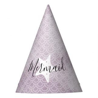 Purple Mermaid Starfish Birthday Party Hat