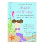 Purple Mermaid Under The Sea Birthday Party Personalized Invitation