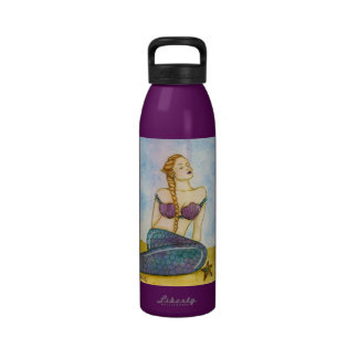 Purple mermaid water bottle