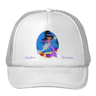Purple Mermaid with Dolphin Hat