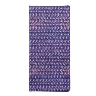 Purple Metal Chain mail Metallic Medieval Style Ar Cloth Napkin