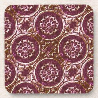 Purple Metalic Looking Coasters