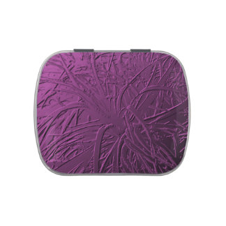 Purple Metallic Air Plant Relief Candy Tin
