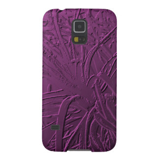 Purple Metallic Air Plant Relief Cases For Galaxy S5