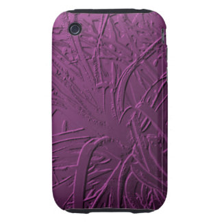 Purple Metallic Air Plant Relief Tough iPhone 3 Covers