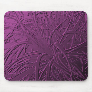 Purple Metallic Air Plant Relief Mouse Pad