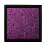 Purple Metallic Air Plant Relief Trinket Boxes