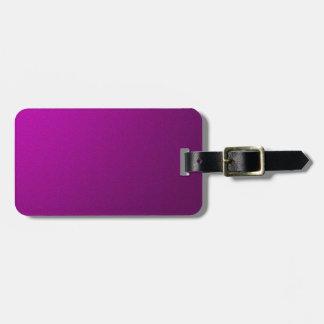 Purple Metallic Bag Tag