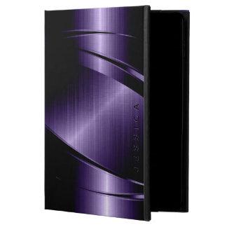 Purple Metallic Design Stainless Steel Look Powis iPad Air 2 Case