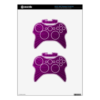Purple Metallic Illusion Xbox 360 Controller Skins