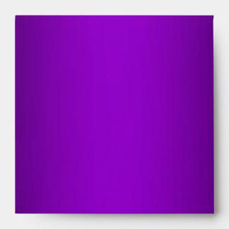 Purple Metallic Leopard Fur Lined Square Envelope