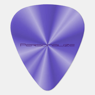 Purple Metallic Print   DIY Text Guitar Pick