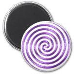 Purple Metallic Swirl Magnet