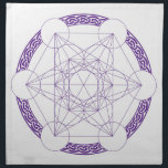 "Purple Metatrons Cube Crystal Grid Cloth Napkin<br><div class=""desc"">Place your crystals on your grid to help you with manifesting your intentions.</div>"