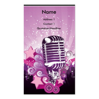 ♫ Purple Mic and Pink stars ♫ Business Card