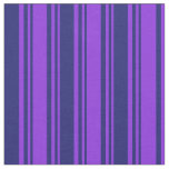 [ Thumbnail: Purple & Midnight Blue Colored Pattern Fabric ]