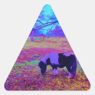 Purple miniature horse triangle sticker